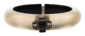 Alexis Bittar Alexis Bittar Black Brown Translucent Carved Lucite Crystal Bangle Bracelet