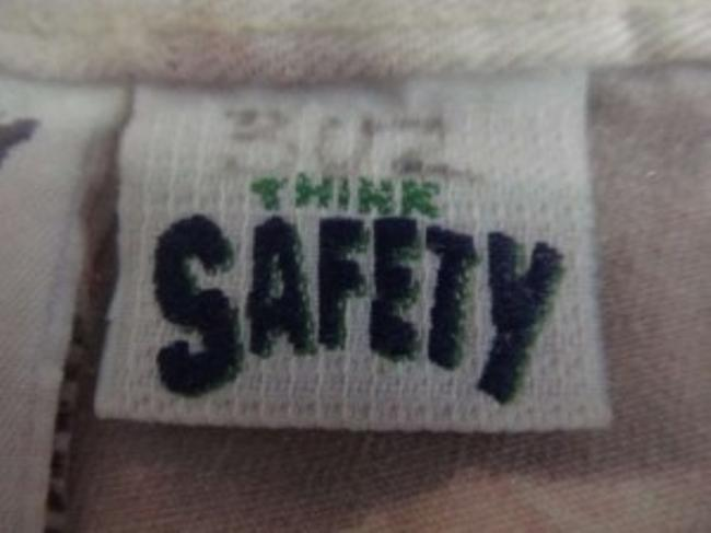 Safety Clothing Co. Skirt Gray with off-white inset & detail