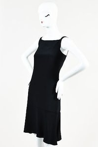 Chanel short dress Black Silk Cc Detail Sleeveless Flounce Hem Slip on Tradesy