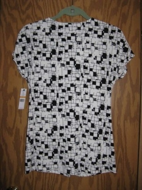 Chaus Top Black/White Print