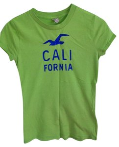 Hollister Graphic Design T Shirt Light Green