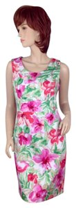 Jones New York short dress Multi-color Pink, Red, Green, White, Tan on Tradesy