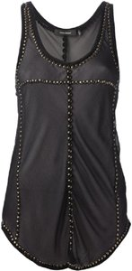 Isabel Marant Im Phil Studded Silk Top Black