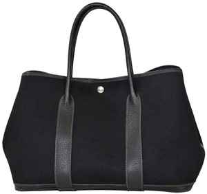 Herms Hermes Garden Party Canvas Tote in Black