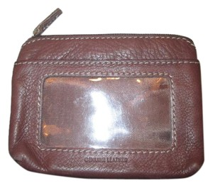 Leather wallet Brown leather wallet/womans tri-fold wallet