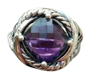 David Yurman David Yurman Infinity Ring With Amethyst