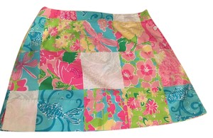 Lilly Pulitzer Classic Mini Skirt Pink, Yellow, Blue, Green