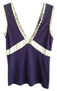 Marc by Marc Jacobs Silk Cotton Geometric Print Top Purple