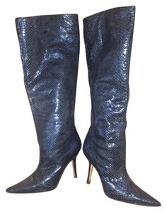 Jimmy Choo Metallic Blue Boots