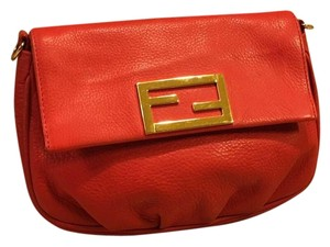 Fendi Orangey Red Clutch