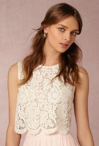 BHLDN Ivory Lace Cleo Top Bridesmaid/Mob Dress Size 4 (S)