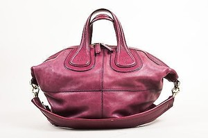 Givenchy Magenta Leather Gold Hobo Bag