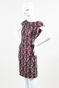 Kay Unger Pink Taupe Black Dress