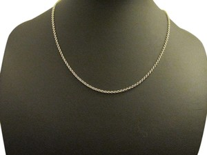 14K Solid White Gold Rolo Chain 16 inches
