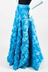 Other Roksanda Turquoise Silk Organza Calton Embroidered Skirt Blue