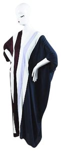Multi-Color Maxi Dress by The Row Maroon Navy White Silk Striped Tunip Maxi Os
