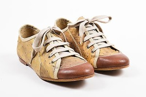 Henry Beguelin Brown Taupe Yellow Athletic
