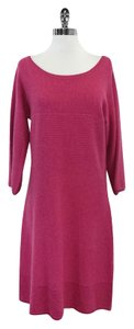 Magaschoni Pink Cashmere Knit Sweater Dress