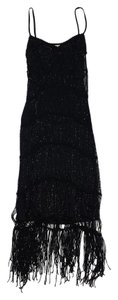 Karen Millen short dress Black Beaded Crochet Fringe on Tradesy