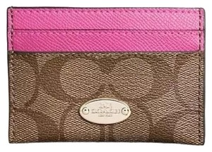 Coach NEW w/Tags Coach Signature Card Case Wallet F63279