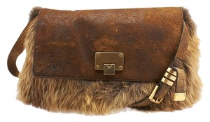 Michael Kors Fur Satchel in Brown