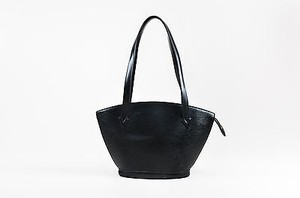 Louis Vuitton Epi Leather Saint Jacques Pm Structured Tote in Black