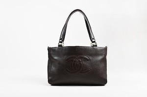 Chanel Caviar Leather Tote in Brown