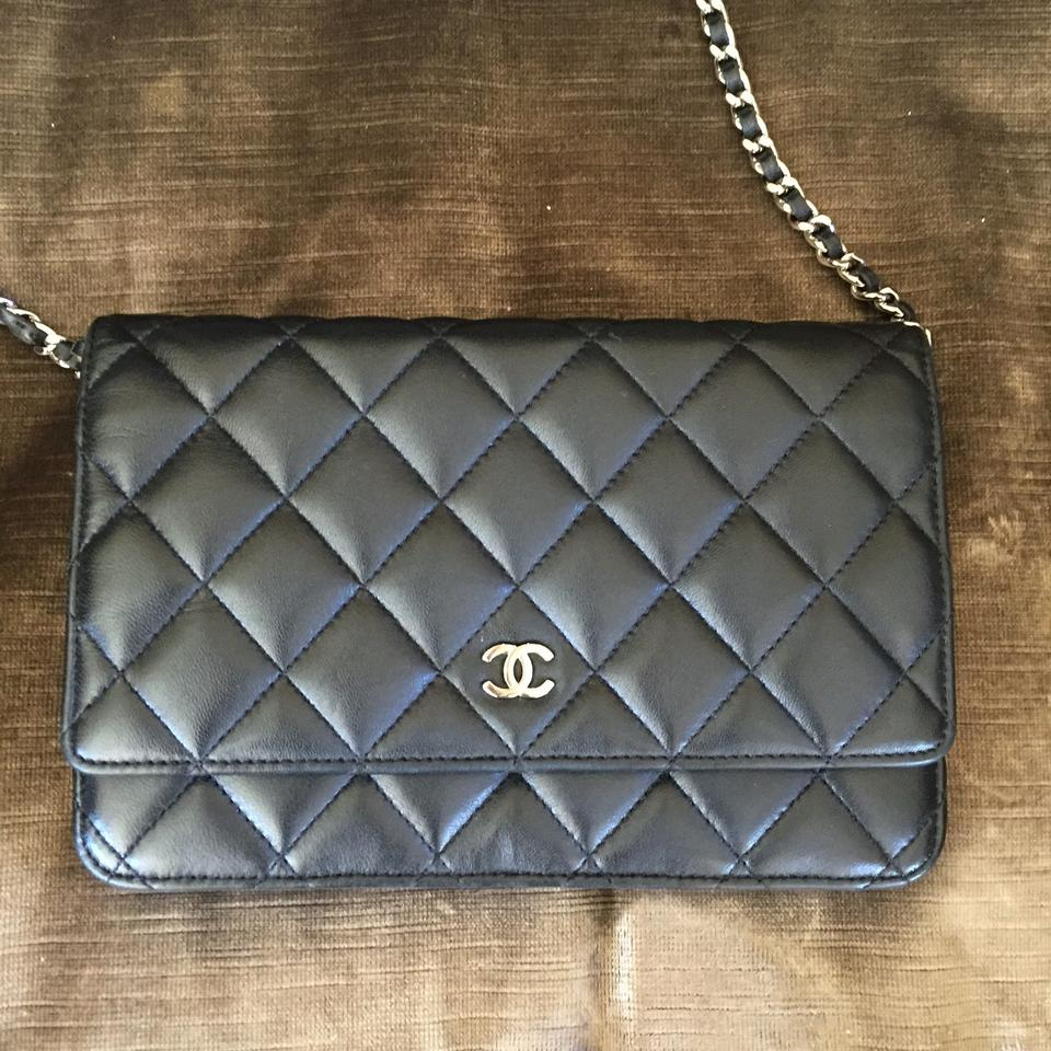 9ddcbcbd47a3 Chanel Wallet on Chain Classic (Woc) Black Lambskin Leather Cross Body Bag