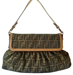 Fendi Signature Canvas Satchel in Zucca Print Brown/Tan