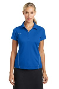 Nike Moister-wicking Blue Sport Golf Polo Button Down Shirt Blue Sapphire
