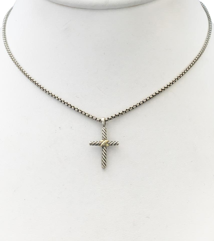 David yurman silver cross necklace tradesy david yurman david yurman cross necklace dy necklace silver jewelry mozeypictures Images