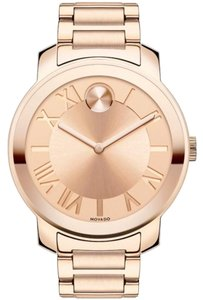 Movado Movado Bold 39mm Rose Gold Bracelet Womens Watch 3600199