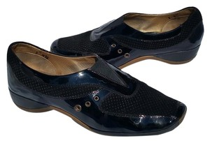 Sesto Meucci Made In Italy Modern Patent Leather Black Athletic