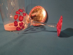 Painted Glass-pink & Black Pink Leopard Martini Glass