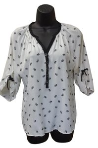 Yumi Kim Silk Owls Top white and black