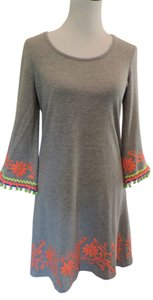 Uncle Frank short dress Grey Embroidery T-shirt on Tradesy