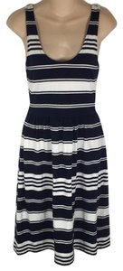 J.Crew short dress Navy & White on Tradesy