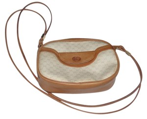 Gucci Gold Hardware Ivory And Multiple Compartment Mint Vintage Rare Early Cross Body Bag