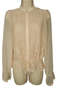 Divided by H&M Sheer Lace Top Peach