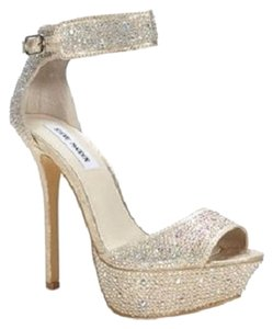 Steve Madden Embellished Sparkle Heels Blush/Multi ( rhinestone) Formal