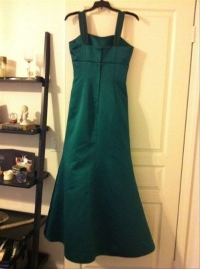 Alfred Angelo Emerald Green Satin 7177 Formal Bridesmaid/Mob Dress Size 4 (S)