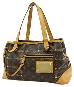 Louis Vuitton Leather Monogram Shoulder Bag