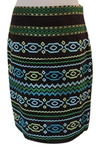 Etcetera Embroidery 100% Cotton Skirt Brown multi