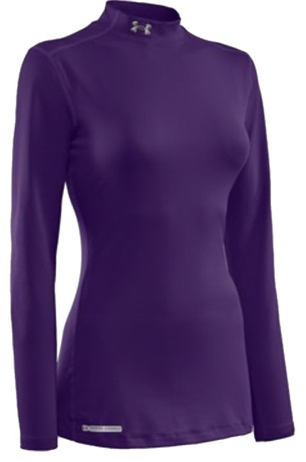 Item - Purple Coldgear Fitted Mock Activewear Top Size 0 (XS, 25)
