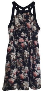 Ark & Co. short dress Black floral on Tradesy