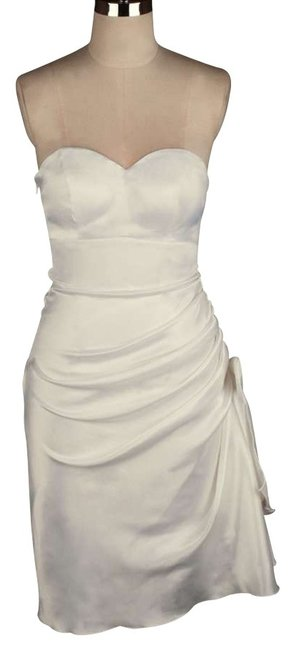 Preload https://img-static.tradesy.com/item/180473/ivory-strapless-bunched-bow-satin-size2xl-knee-length-formal-dress-size-22-plus-2x-0-0-650-650.jpg