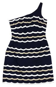 Lilly Pulitzer short dress Navy Scalloped Cotton on Tradesy