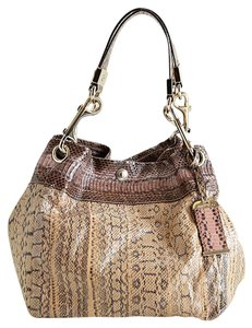 Jimmy Choo Exotic Tote in pink,tan