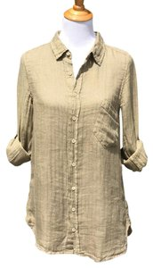 CP Shades Linen Boyfriend Shirt Cp Textured Button Down Shirt Olive
