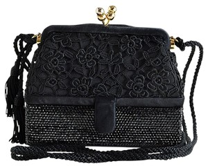 Judith Leiber Purse Crystal black Clutch